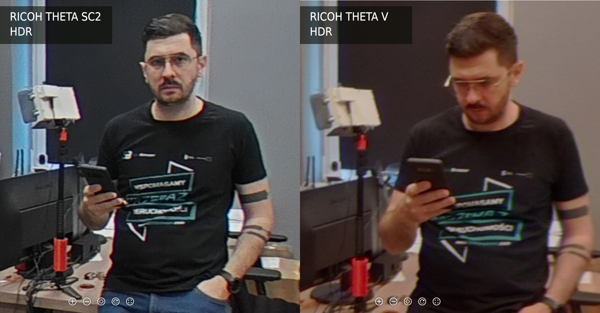 Ricoh Theta SC2 vs V tryb HDR