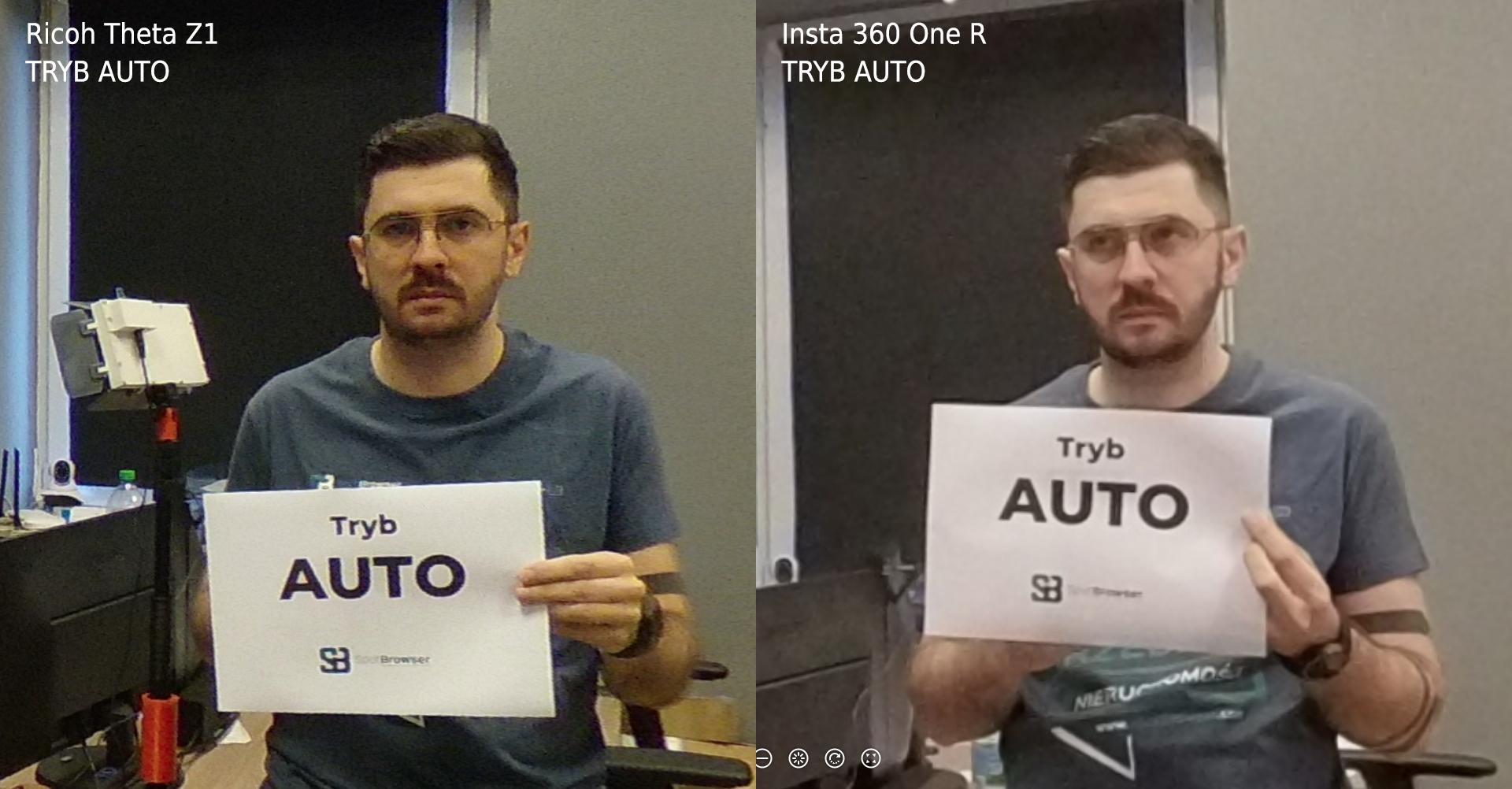 Ricoh Theta Z1 vs Insta 360 One R  tryb: Auto