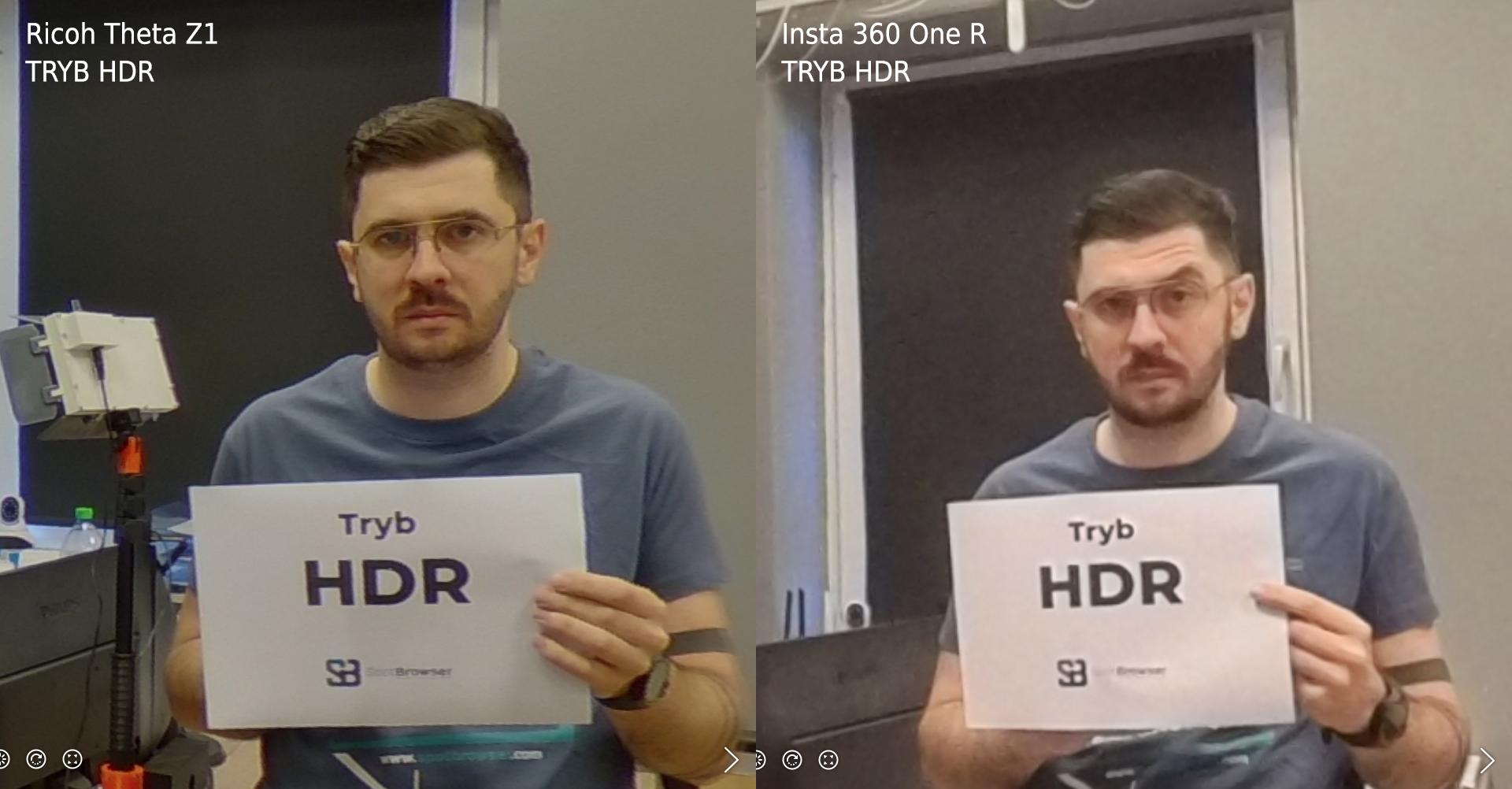 Ricoh Theta Z1 vs Insta 360 One R TRYB HDR