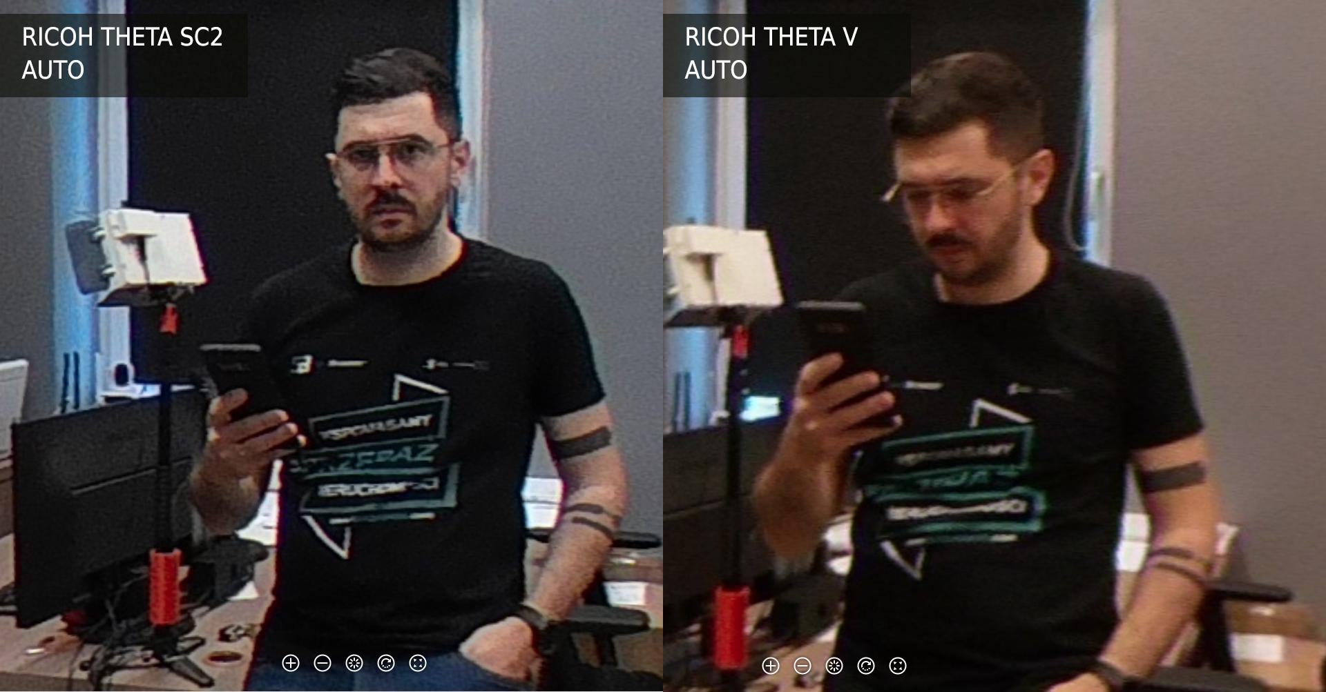 Ricoh Theta SC2 vs V tryb Auto