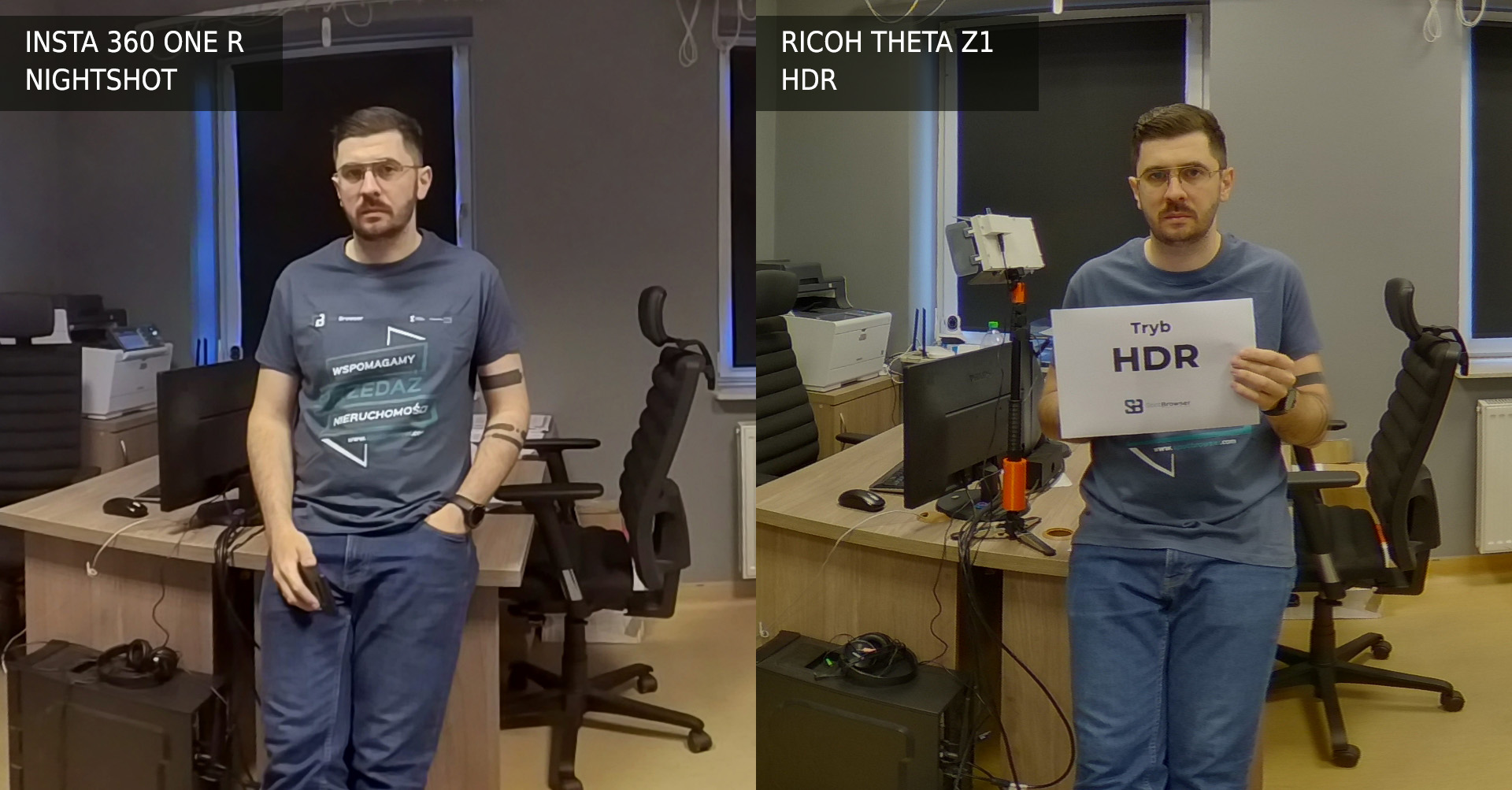 Ricoh Theta Z1 vs Insta 360 One R NightShot vs HDR